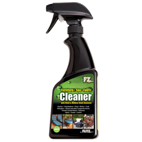 Flitz Outdoor Living Cleaner f/Furniture, Spa & Fabric w/Mold & Mildew Stain Remover - 16oz Spray Bottle