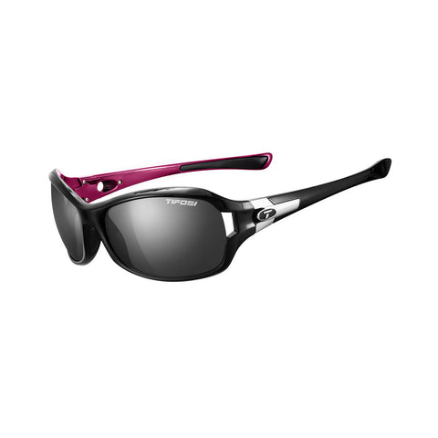 Tifosi Dea SL Polarized Single Lens Sunglasses - Gloss Black/Pink