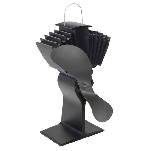 Caframo Ecofan Airmax 812AM Heat Powered Stove Fan - Black Blade
