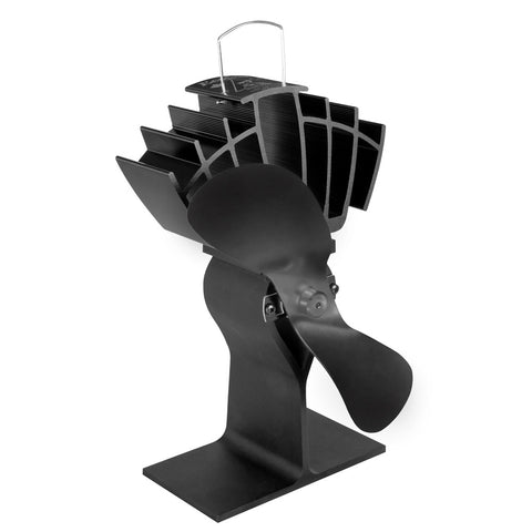 Caframo Ecofan UltrAir Heat Powered Stove Fan - Black Blade