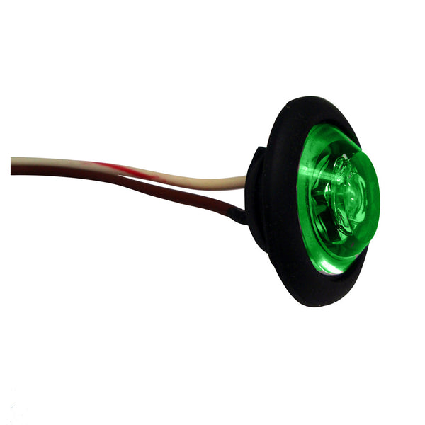 "Innovative Lighting 1"" Round LED ""Shortie"" Livewell/Bulkhead Light - Green LED/Black Grommet"
