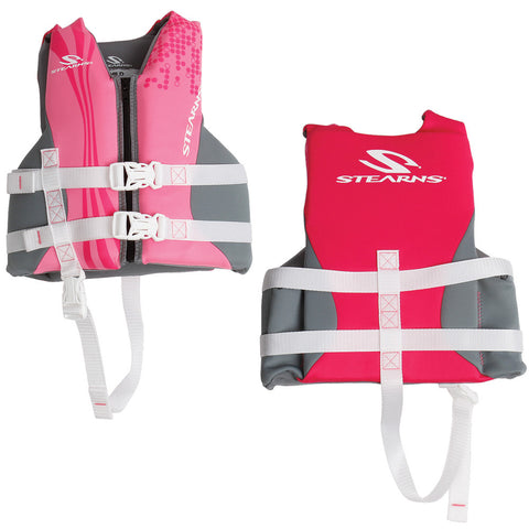 Stearns Child Hydroprene™ Vest Life Jacket - 30-50lbs - Pink