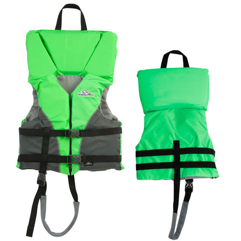 Stearns Youth Heads-Up® Nylon Vest Life Jacket - 50-90lbs - Green