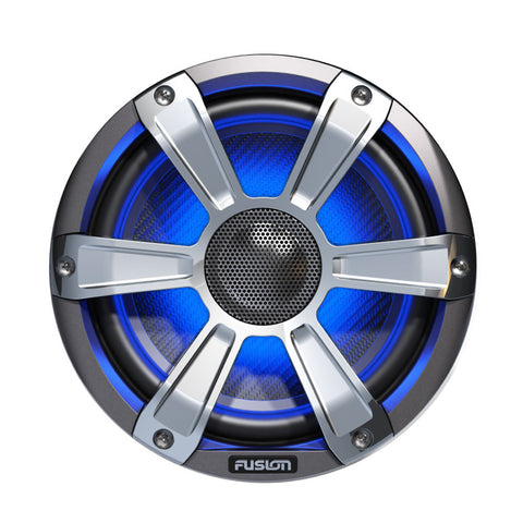 "FUSION FL77SPC Signature Series Speakers - 7.7"", 280W Coaxial Sport - Silver/Chrome w/LED Illumination"
