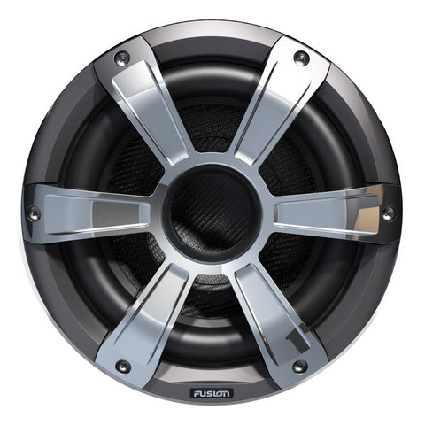 FUSION SL10SPC Signature Series Subwoofer - 450W - Silver/Chrome w/LED Illumination