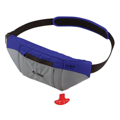 Onyx M-24 Manual Inflatable SUP Belt Pack Life Jacket - Blue