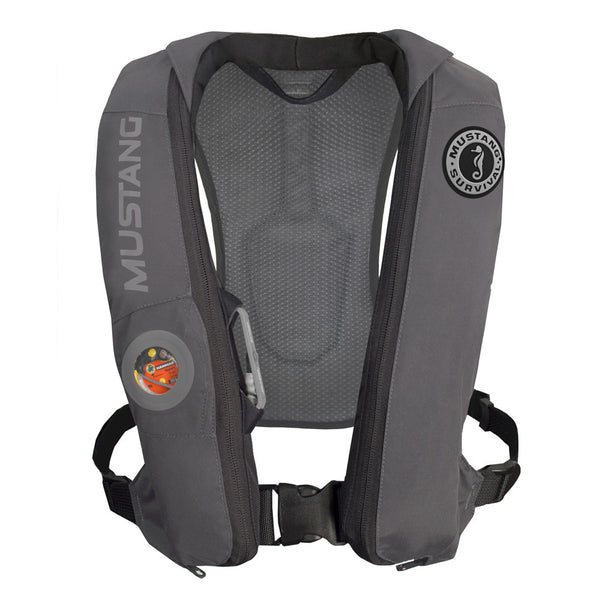 Mustang Elite Inflatable Automatic PFD - Gray