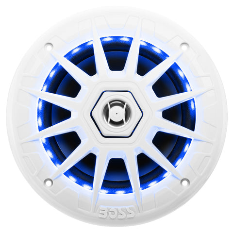 Boss Audio MRGB65 Coaxial Marine Speakers w/RGB LED Lights - 6.5""