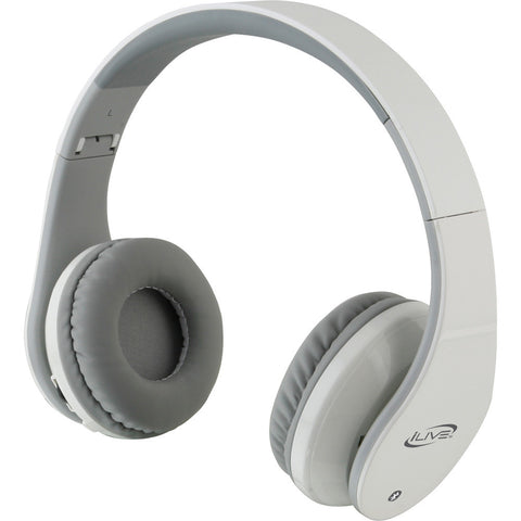 iLive IAHB64W Bluetooth Stereo Headphones w/Microphone - White