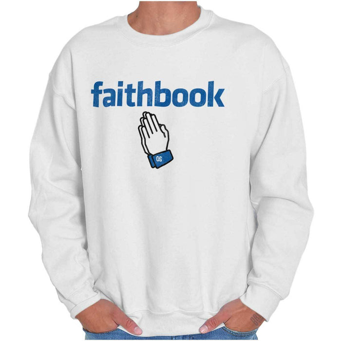 Faithbook Christian Mens Crewneck Sweatshirt