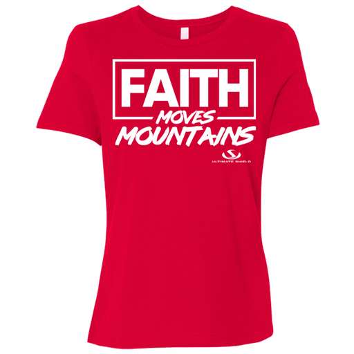FAITH MOVES MOUNTAINS Ladies' Relaxed Jersey Short-Sleeve T-Shirt - ChristianMetro
