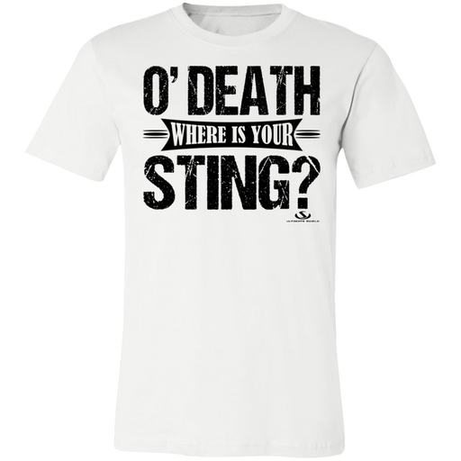 0'DEATH WHERE IS YOUR STING Unisex Jersey Short-Sleeve T-Shirt - ChristianMetro