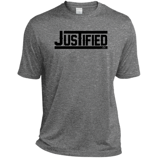 JUSTIFED Heather Dri-Fit Moisture-Wicking T-Shirt - ChristianMetro
