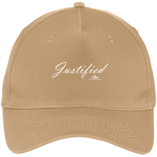 JUSTIFIED Five Panel Twill Cap - ChristianMetro