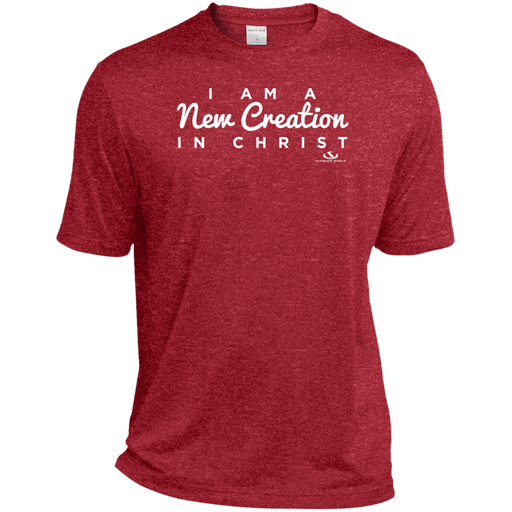 I AM A NEW CREATION IN CHRIST Heather Dri-Fit Moisture-Wicking T-Shirt - ChristianMetro