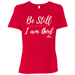 BE STILL AND KNOW THAT I AM GOD Ladies' Relaxed Jersey Short-Sleeve T-Shirt - ChristianMetro