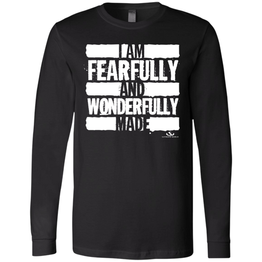 I AM FEARFULLY AND WONDERFULLY MADE Men's Jersey LS T-Shirt - ChristianMetro