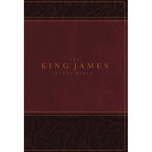 The King James Study Bible, Imitation Leather, Burgundy, Full-Color Edition - Large Print - ChristianMetro