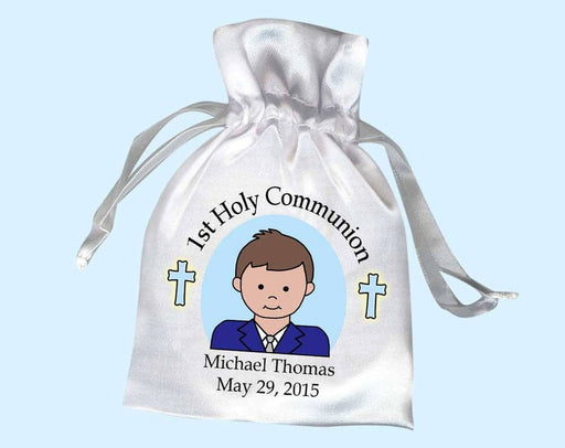 First Communion Boy Personalized Favor Bag (Pack of 10) - ChristianMetro