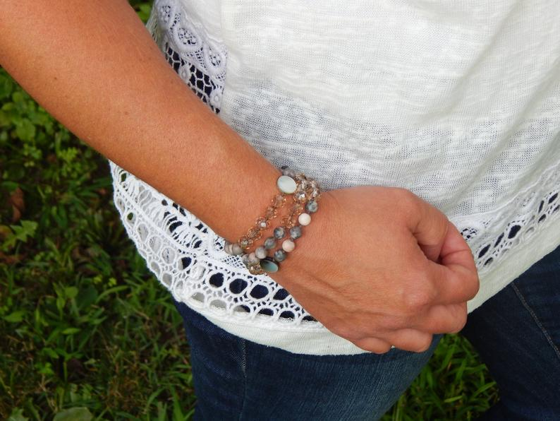 Catholic Rosary for Women - Boho Wrap Bracelet