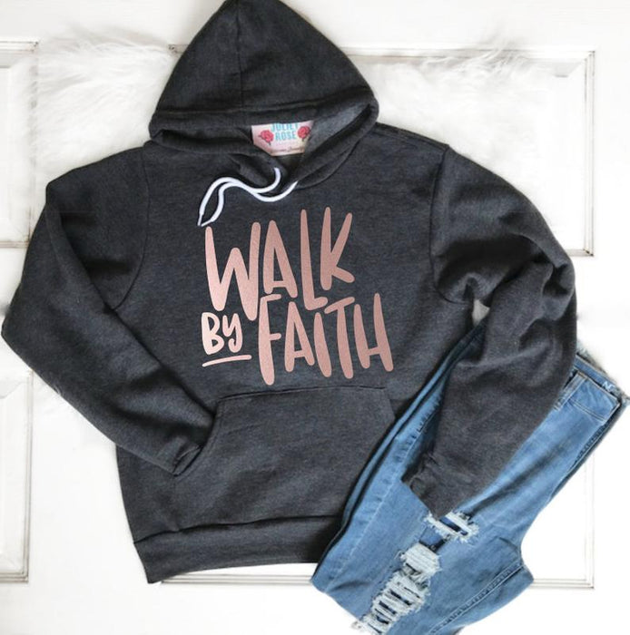 Walk by Faith Hoodie Winter Sweater for Women