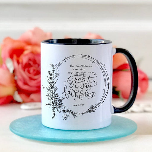 Coffee Mug - Great is Thy Faithfulness - ChristianMetro