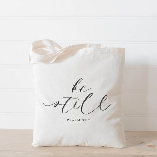 Tote Bag - Be Still, present, housewarming gift, , tote, Bible verse, inspirational, womens gift, christian gift, overnight bag - ChristianMetro