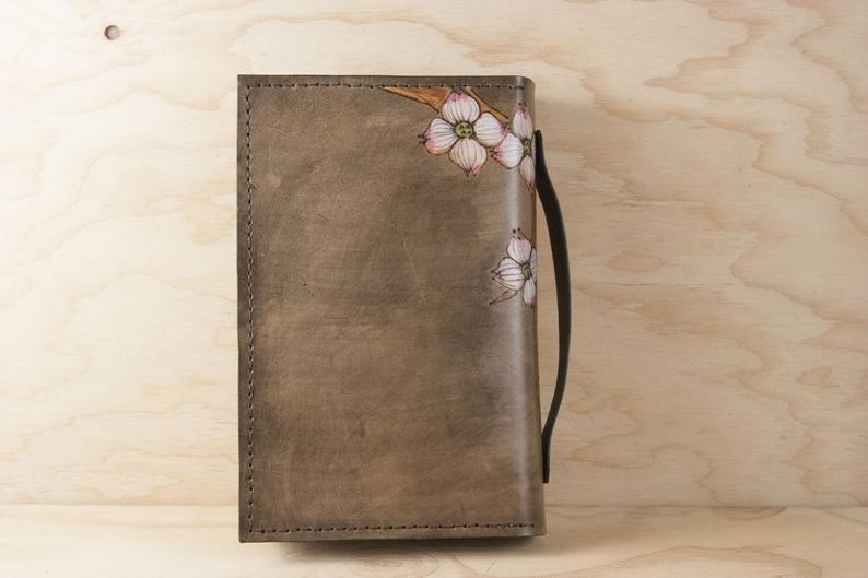 Custom Engraved Zippered Bible Cover - Leather