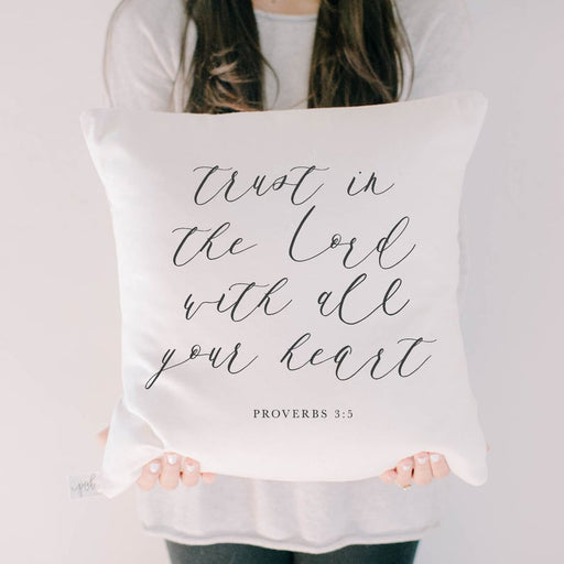 Throw Pillow Cushion Cover - Trust In The Lord - ChristianMetro