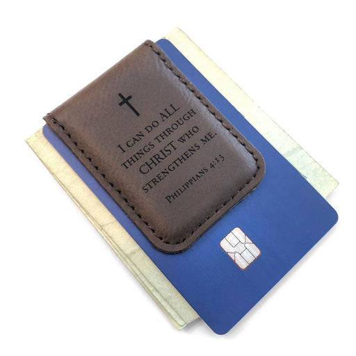 Engraved Money Clip for Men - I Can Do All Things... - ChristianMetro