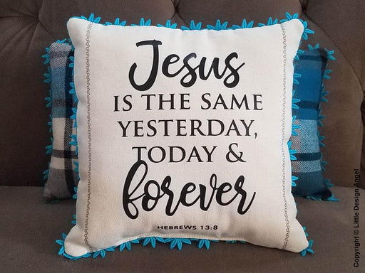 Throw Pillow Cover - Jesus is the Same - ChristianMetro