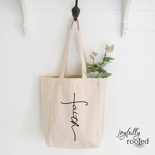 Faith Canvas Tote Bag - ChristianMetro