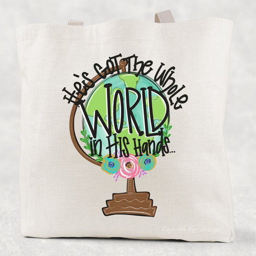 Tote Bag - He's Got The Whole World In His Hands - ChristianMetro
