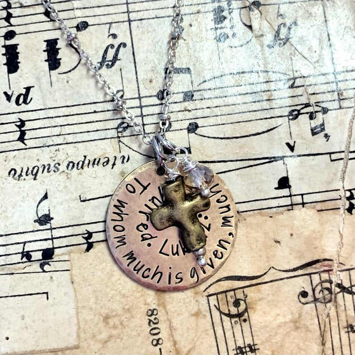 Custom Bible Verse Necklace - Personalized