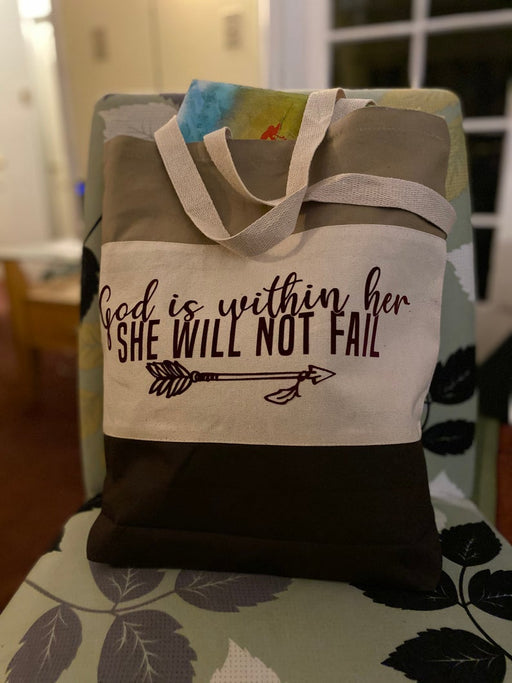 Tote Bag - God is Within Her She Will Not Fail - ChristianMetro