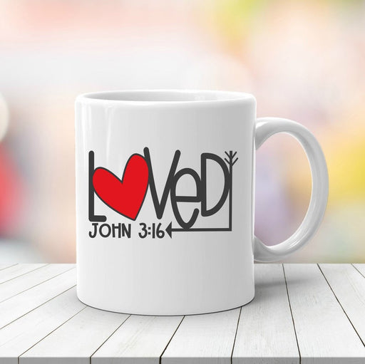 Coffee Mug - Loved John 3:16 - ChristianMetro