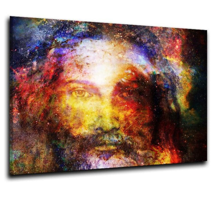 Beautiful Colorful Christ Spray Painting on Canvas - ChristianMetro
