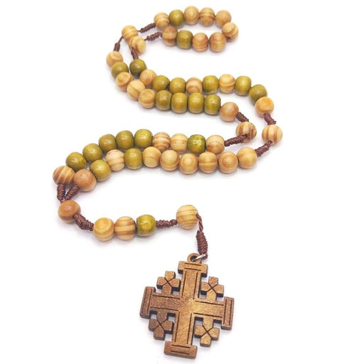 Jesus Wooden Prayer Beads - ChristianMetro