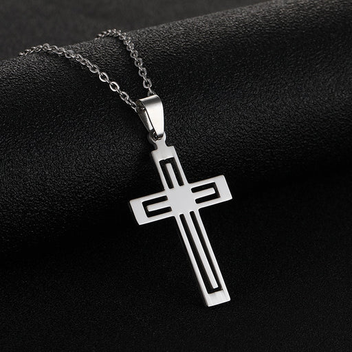 Stainless Steel Cross Pendant Necklace - ChristianMetro