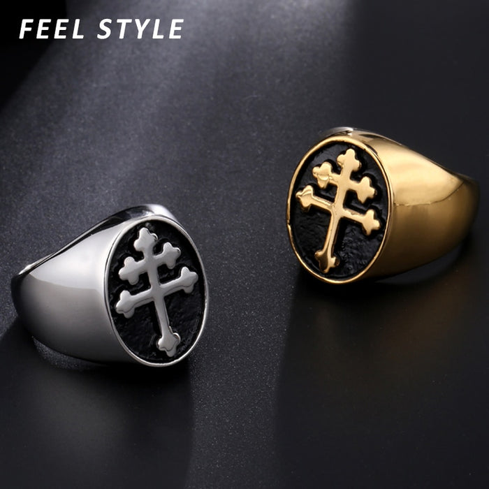 Male Religion Gold Rings - ChristianMetro