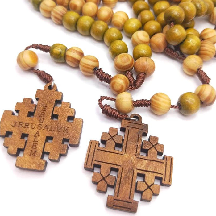 Pendant Woven Rope Cross Necklace - ChristianMetro