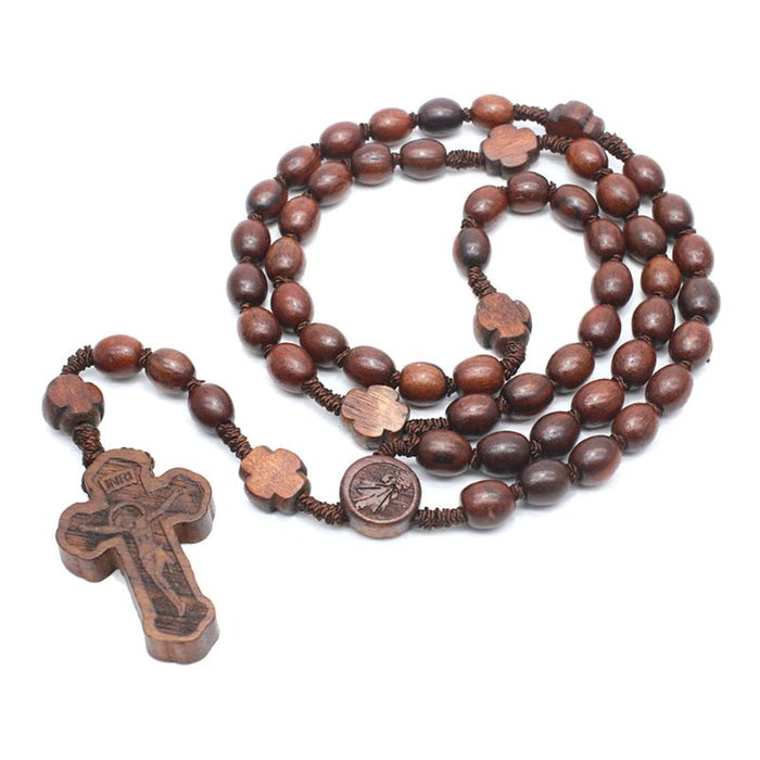 Wooden Rosary Necklaces - ChristianMetro