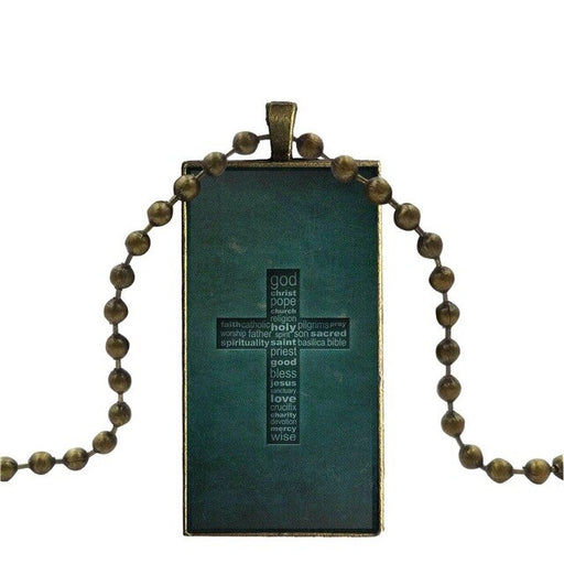Necklace With Bronze Plated Glass - ChristianMetro