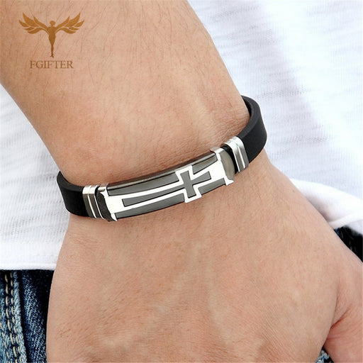 Christian Cross Bracelet for Men - ChristianMetro