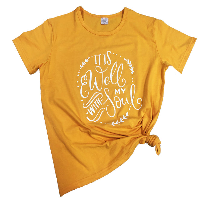 Yellow My Soul T-Shirt - ChristianMetro