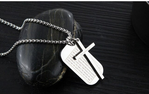 mercy jesus Fashion Classic Cross Titanium Steel Pendant Christian  Necklace - ChristianMetro