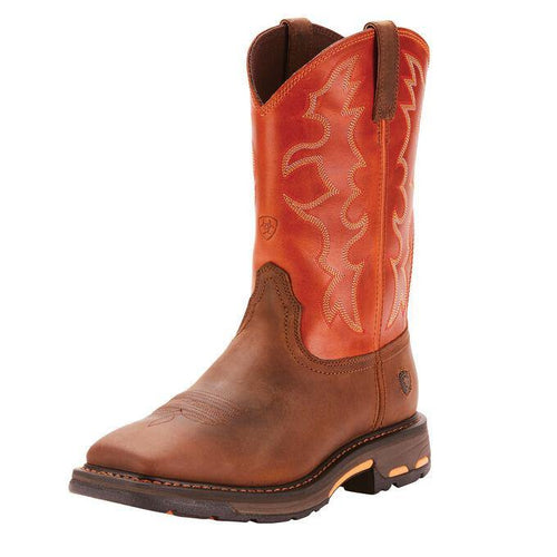 ARIAT WORKHOG WST WORK BOOT EARTH BRICK - Patton's