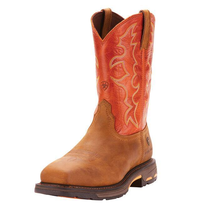 ARIAT WORKHOG WST DARK EARTH/BRICK STEEL TOE