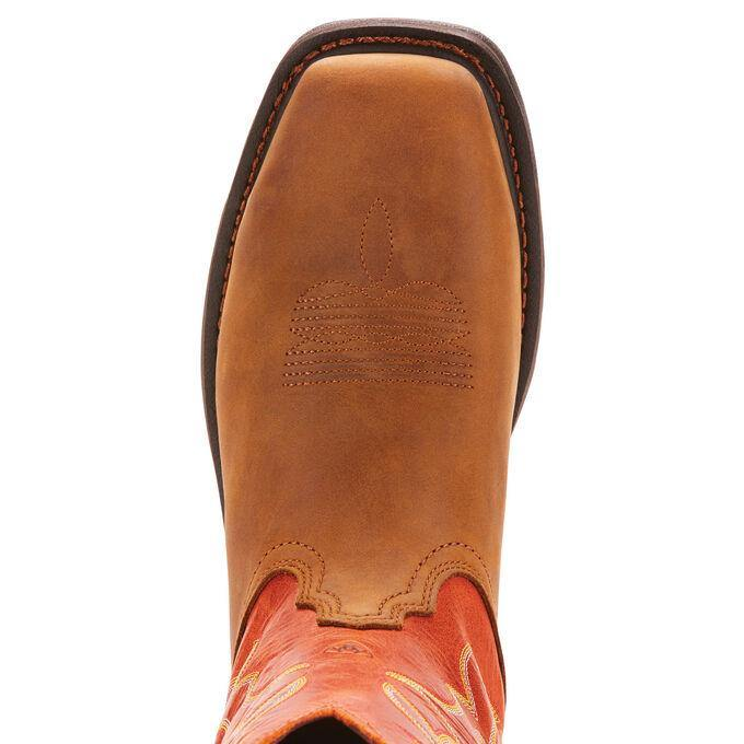 ARIAT WORKHOG WST DARK EARTH/BRICK STEEL TOE - Patton's