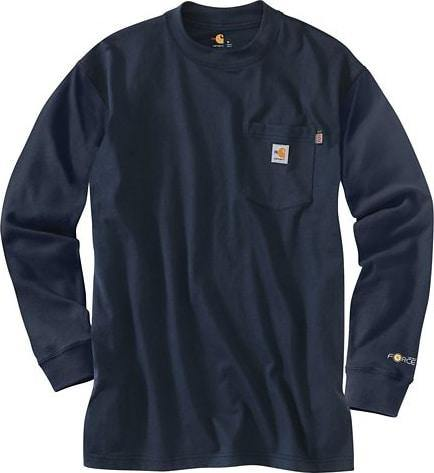CARHARTT FLAME-RESISTANT CARHARTT FORCE® COTTON LONG-SLEEVE T-SHIRT - Patton's